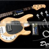 Diy High Quality Ash Wood Unfinished Electric Bass Guitar Kits 5 Strings