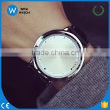 FCW001/ PU leather Novelty Life Tree Dial LED Light Watches Lovers Sports Cool Touch Screen Watches Wholesale Clock