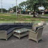 WICKER SOFA SET/ SOFA 6 pcs (1 chair+1 corner+1 right bench 2 seater +1 left bench 2 seater+ 1 middle chair+1 table)