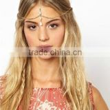 Bohemian Rhinestone Gold Headpiece Head Chain Hairband Jewelry Wedding Bridal Bride Hair Accessories