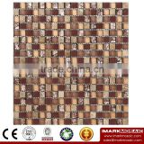 IMARK Crystal Mix Marble Mosaic Tiles with Painting Glass Mosaic Tiles and Gold Foil Mosaic Tiles Code IXGM8-112