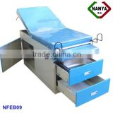 gyneacological examination table with storage cabinet,electric battery operating room table