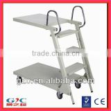 Supermarket Foldable Stair Climbing Ladder Trolley Movable Steel Cart from Guangdong