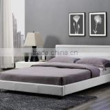 Modern italian bedroom furniture set cheap black/white soft synthetic/pu/genuine luxury leather bed