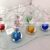 color ball bottom shot glass sets
