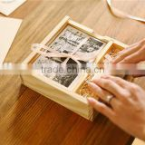 cheap wholesale unfinished wooden craft boxes wedding invitation gift box