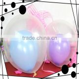 Transparent Latex Balloons/Transparent polka dot balloons for party