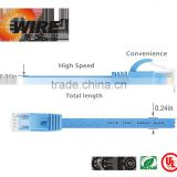 Flat RJ45 Networking lan cable retractable cat 6 Ethernet patch cable/mtrj fiber optic patch cable