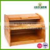 High quality large bamboo bread box,bamboo bread bin for sale