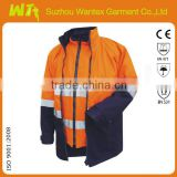 High Quality Multi-function 4 in 1 High Visibility Winter coats workwear oil field/welding working wear