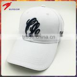 Wholesale 3D embroidery adjustable hook and loop golf hats for men sun protection