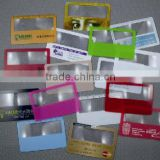 Promotional custom plastic credit card size magnifier