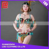 New style sequined rhinestoneTops & Panty & Feather & Accessories sex carnival party costume