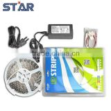 5m LED Strip 3528 Blister Kit 60leds/m Non-Waterproof + 2A 12V 24W Power Supply Adapter + Connectors LED Tape Light