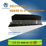 hd mi and CVBS input streamer h.264 h.265 hevc encoder for iptv&ott systems