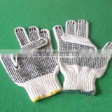 Standard Dot Men's Work Labor White Gloves Breathable Hand Dot White Cotton Knit Gloves Factory Knitted Working GLoves