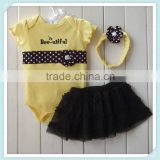 Newest Baby Romper Suit Baby Bubble Long Sleeve Tutu Romper And Petti Skirt Wholesale Baby Clothes With Headband