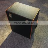 Factory wholesale custom high-grade black PU leather box 6 bottles of red wine champagne