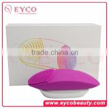 EYCO silicone facial brush wireless charging 2016 new product electric face scrubber facial cleansing system