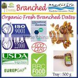 Organic Fresh Branched Dates, Organic Deglet Noor Dates, Organic Tunisian Branched Dates 500Tray