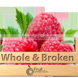 Raspberries whole and broken Willamette
