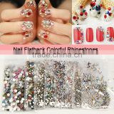SS4~SS30 colorful nail glass crystal flatback rhinestones