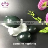 3-PCS Set Yoni Jade Eggs, L/M/S 3 Sizes, sideway drilled, Made of Genuine Nephrite jade eggs kegel