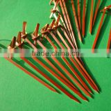 High Quality Disposable Decorative Bamboo Cocktail Beaded Knotted Food Part Picks Skewers Sticks With Ball