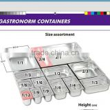 2015 guangzhou manufacturers for 1/1 gastronorm pan / gastronorm pan / perforated gn tray