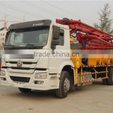 New designed hot sale 21m/25m/29m/37m concrete boom pump truck ISO 9001 & BV approved