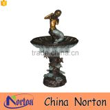 Beautiful mermaid decorative garden bronze fountain NTBF-MF277A