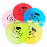 The bending deformation of plastic cartoon dog printing plastic pet dog Frisbee 20cm