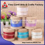 Natural Jute Hessian Burlap Ribbon with Lace Trims Tape Belting Strap Crafts