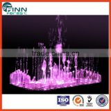 Stainless steel musical fountains with skip mode,gradual up/down or change by music