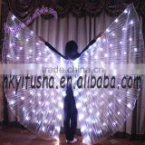 Yifusha solid colors belly dancing open LED wings