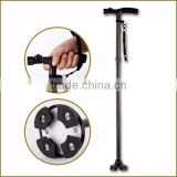 double support spread handle/head Self Standing Cane elderly smart walking cane Twin Grip Cane