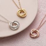 Tri-link heart necklace forever love short style heart-shaped pendant collarbone chain short style necklace wholesale