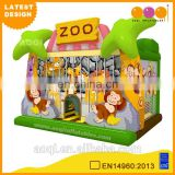 2016 AOQI newest design inflatable zoo combo jumper for kids with free EN14960 certificate