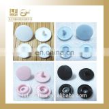 10MM the most common used 4 parts plastic snap button studs for raincoat or baby clothes