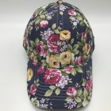 Korean leisure all-match flower cloth printed flat hat hip-hop duck tongue tide Sun Baseball hats special