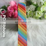 Fashion rainbow stripe ribbon
