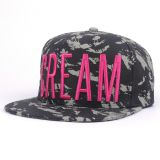 Custom 6 Panel 2 Tone 3D Embroidered Snapback Hat