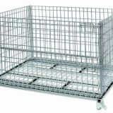 Galvanized foldable mesh metal storage cage