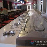 Eternal and Unique Appearance Hot Pot Rotary Conveyor Belt System