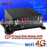 gision 4g network car dvr 720p 4ch hdd dvr recorder with wifi gps support real time monitoring gps tracker mnvr