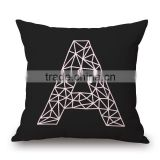 New Black Design Linen and Cotton Sofa Cushion for Home Decoration