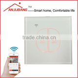 Smart Home Device, Home Automation system, tempered glass Live and Neutral wiring WiFi light switch