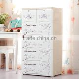 Bedroom China flower simple design cloth cupboard