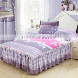 Printing rainbow Stripe Design king/Full Size fitted Bedspreads