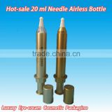 10ml.20ml airless syringe bottle with clear outer tube and white inner tube